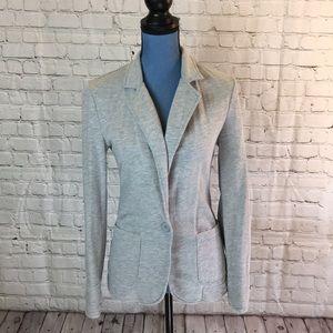 "No Boundaries gray ""sweatshirt"" blazer size 3-5"